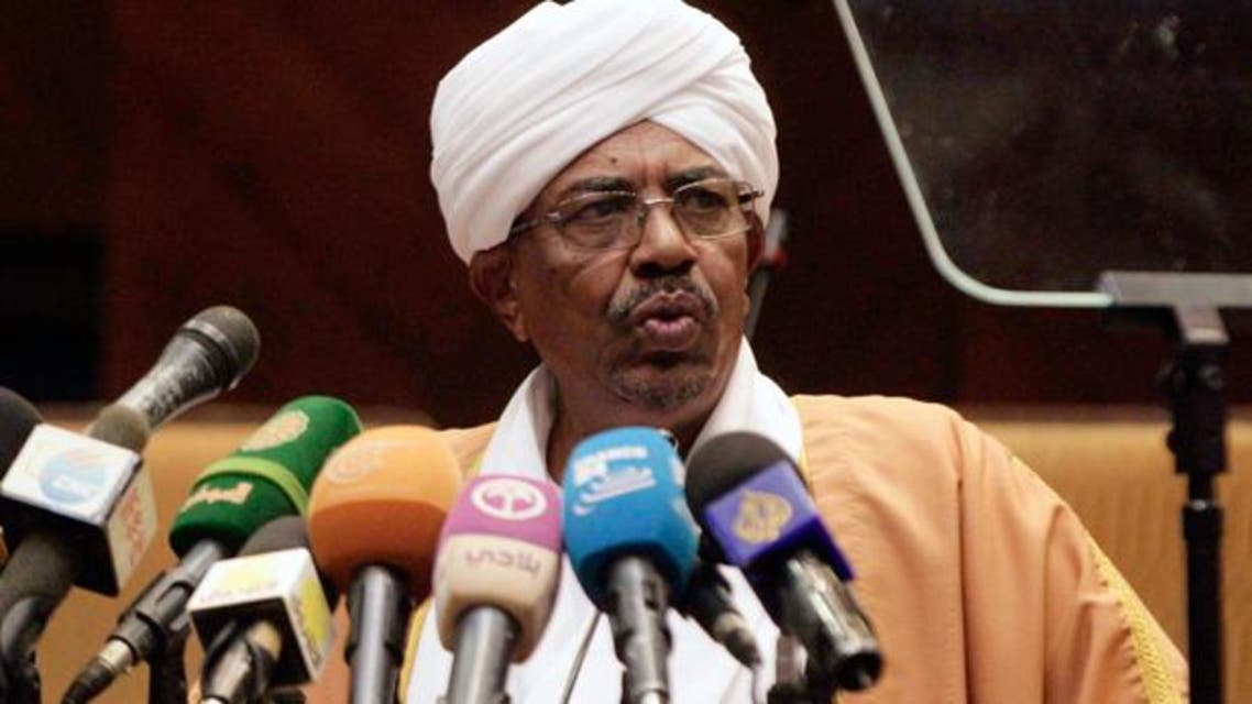 Sudan's President Omar al-Bashir speaks during the opening of a new session of parliament on October 28, 2013 in Khartoum. (AFP)