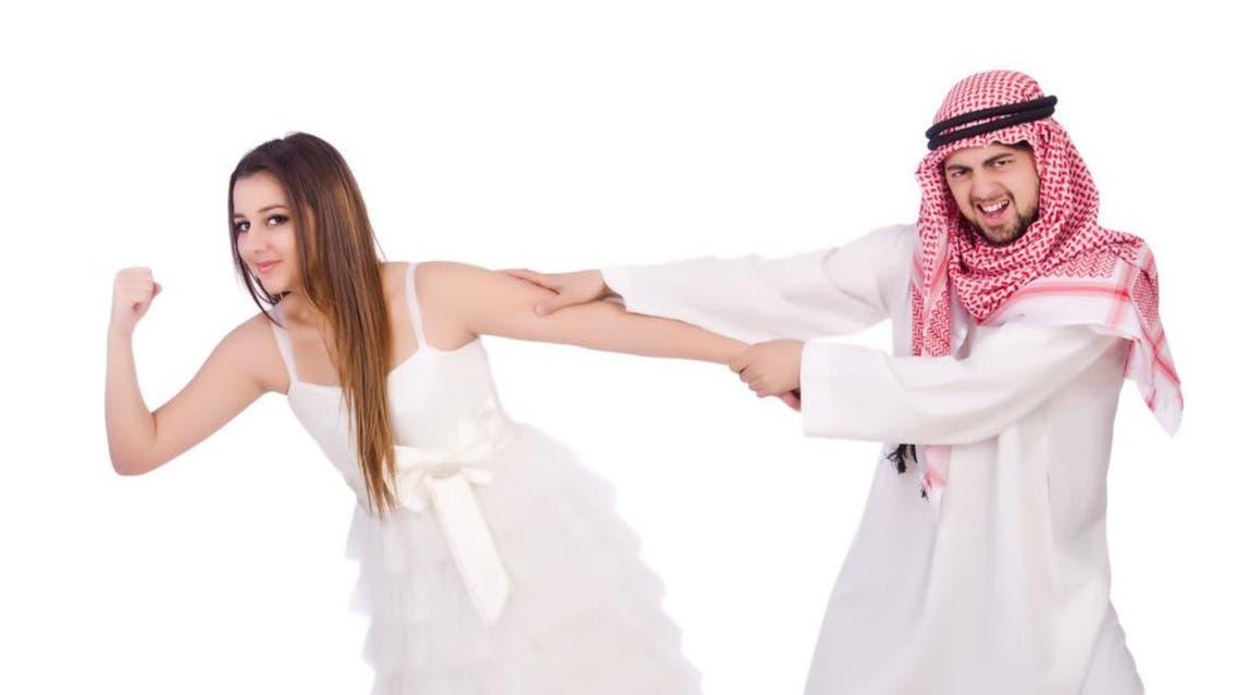 saudi man woman