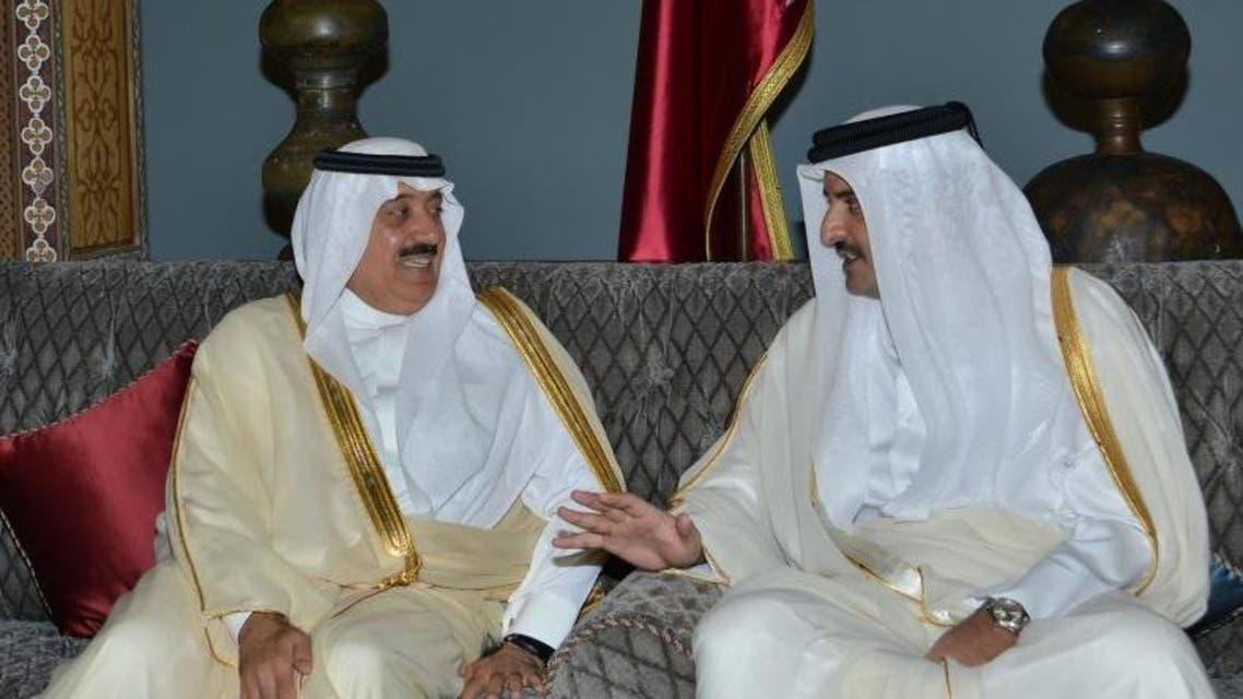 الأمير متعب وأمير قطر