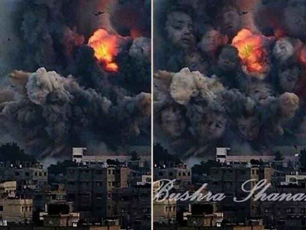 بالصور.. صبية فلسطينية تحول دمار غزة للوحات فنية