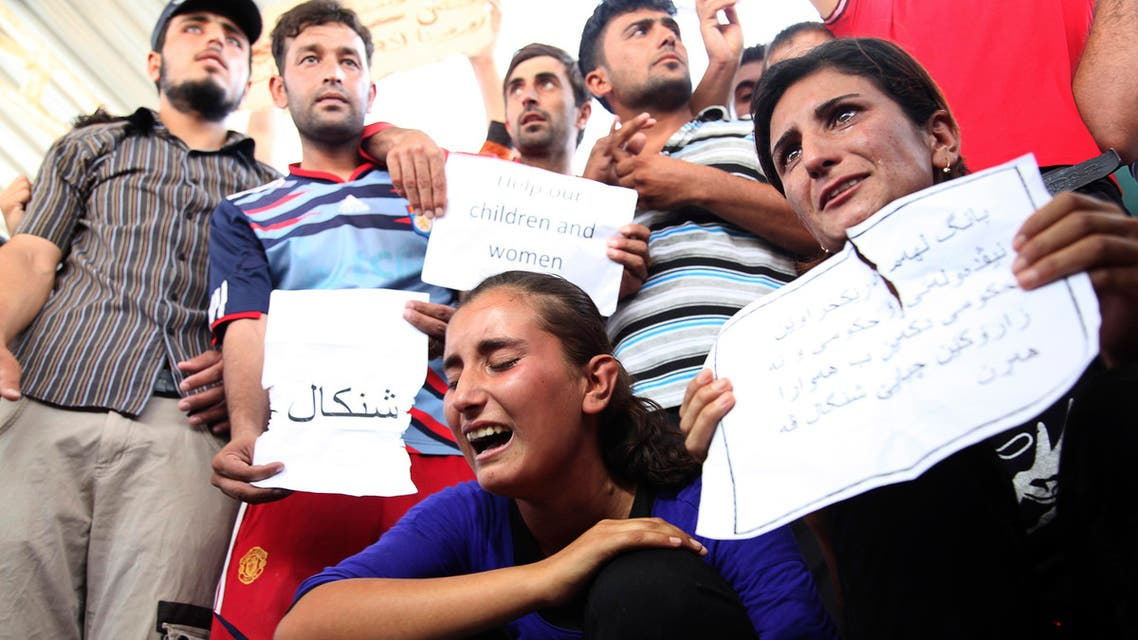 Yazidid protest against ISIS in Arbel Iraq