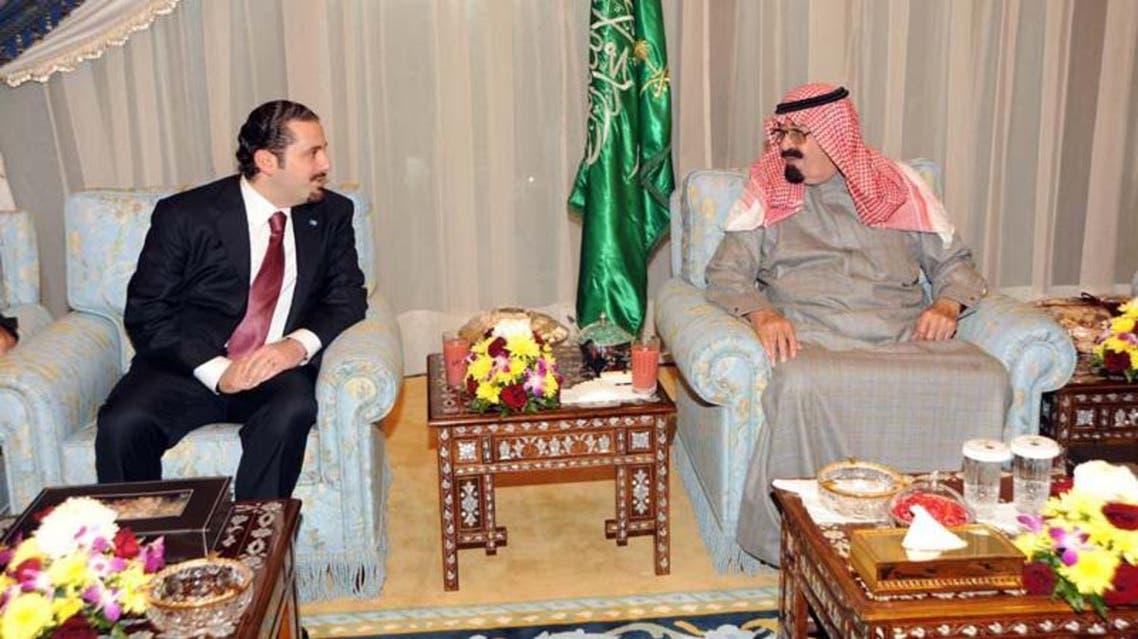 Saad Hariri and King Abdullah in Riyadh 2009