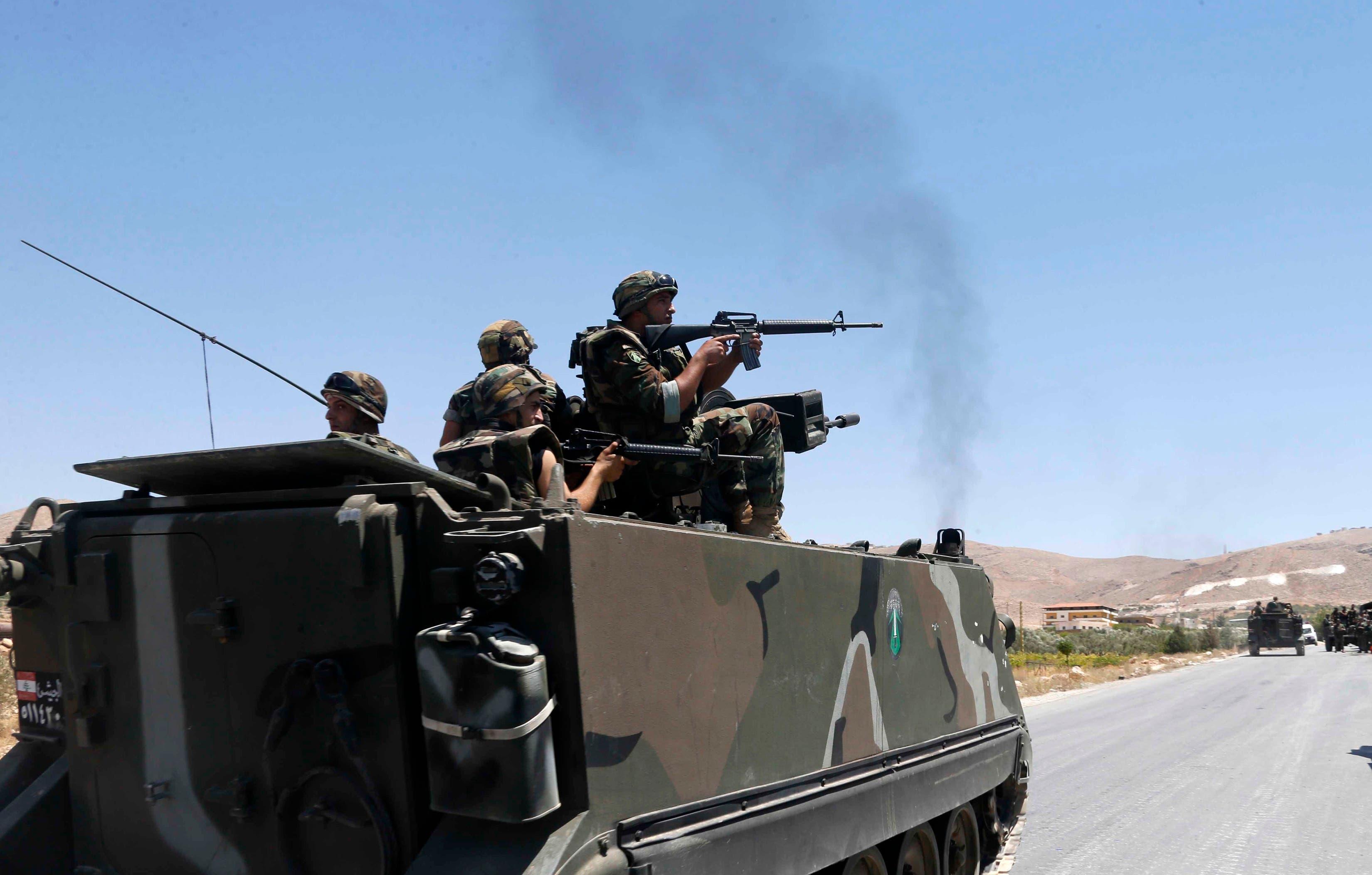 انتشار سابق للجيش اللبناني في عرسال