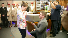 Love is in the air: Man proposes on Emirates flight to Australia