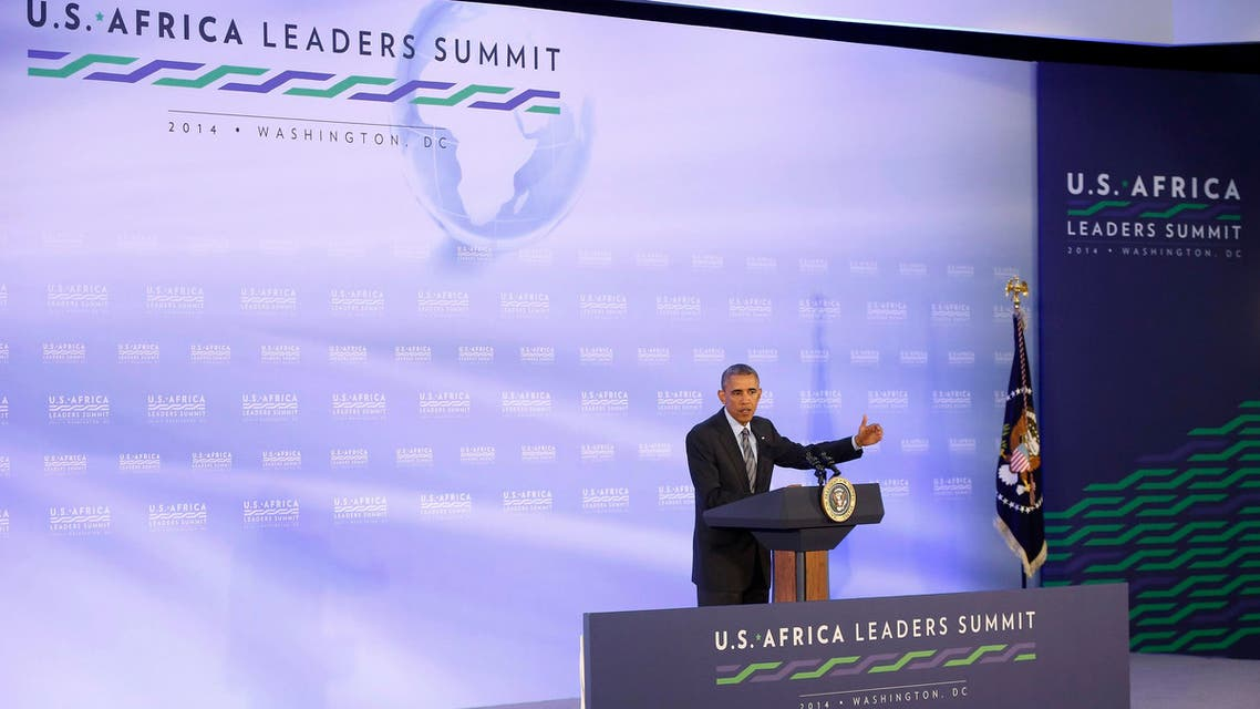 U.S. President Barack Obama speaks at a news conference at the close of the U.S.-Africa Leaders Summit at the U.S. State Department in Washington August 6, 2014.  (Reuters)
