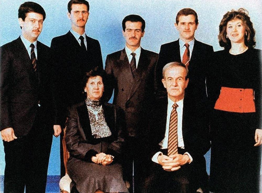 عکس خانوادگی خانواده اسد ، حافظ اسد ، بشار اسد ، بوشرا ریحان ، بوآ