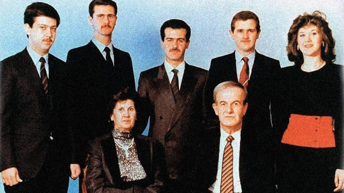 صورة عائلية لآل الأسد حافظ الأسد بشار الأسد بشرى باسل ؤفعت