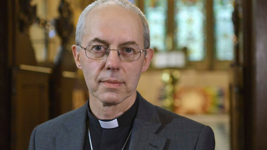 The Archbishop of Canterbury Justin Welby speaks during a pre-recorded interview with the BBC at Lambeth Palace in London, in this July 10, 2014 handout photograph released by the BBC.