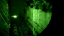 Video shows U.S. aircraft dropping aid to Iraqi civilians