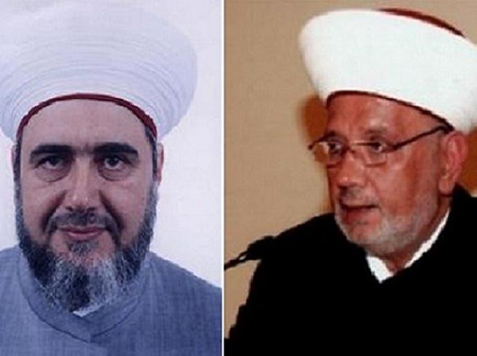من اليمين القاضيان عبد اللطيف دريان وأحمد درويش الكردي