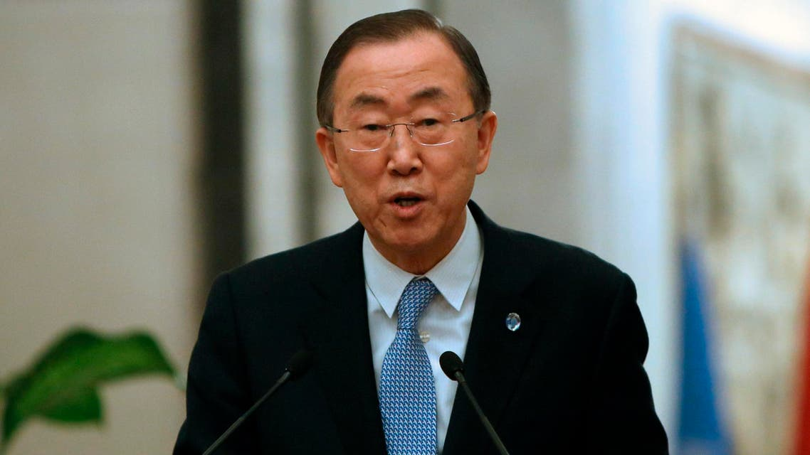 United Nations Secretary-General Ban Ki-moon speaks during a joint news conference with Iraq's Prime Minister Nuri al-Maliki in Baghdad January 13, 2014. (Reuters)