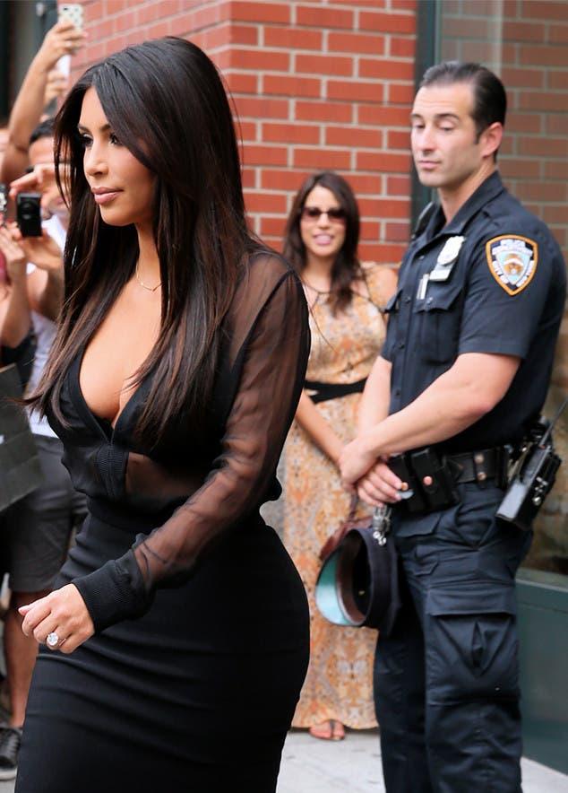 Kim K in NYC Splash News
