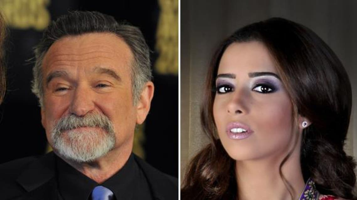 Balqees Fathi (R) tweeted criticizing attention grarnered by the death of Robin Williams(L), sparking backlash.