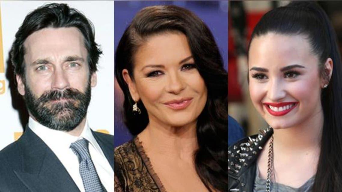 Jon Hamma Demi Catherine Zeta-Jones Demi Lovato compilation Al Arabiya News