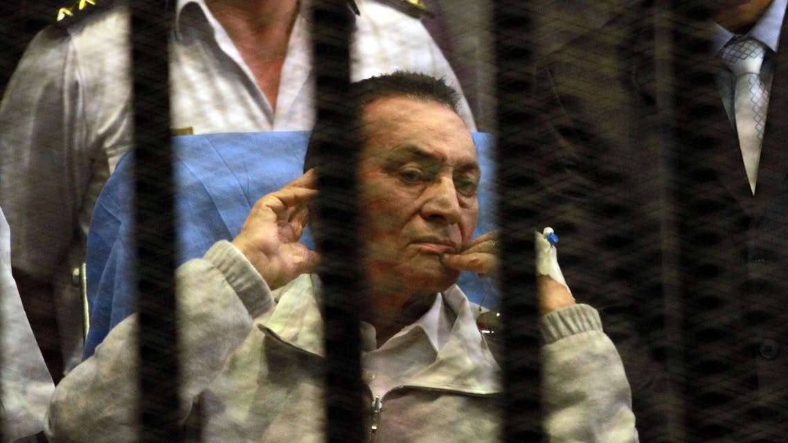 Mubarak and his sons are being tried on graft charges and the killing of protesters during the 2011 uprising. (File photo: AFP)