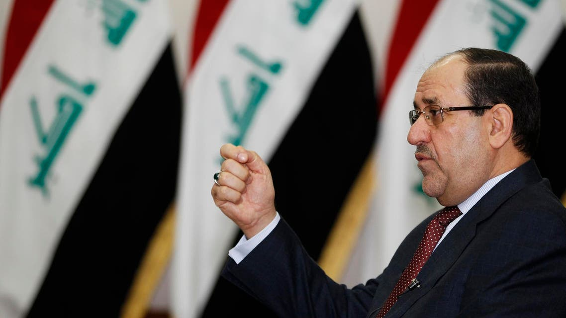 Iraq's Prime Minister Nuri al-Maliki speaks during an interview with Reuters in Baghdad in this January 12, 2014 file photo. (Reuters)
