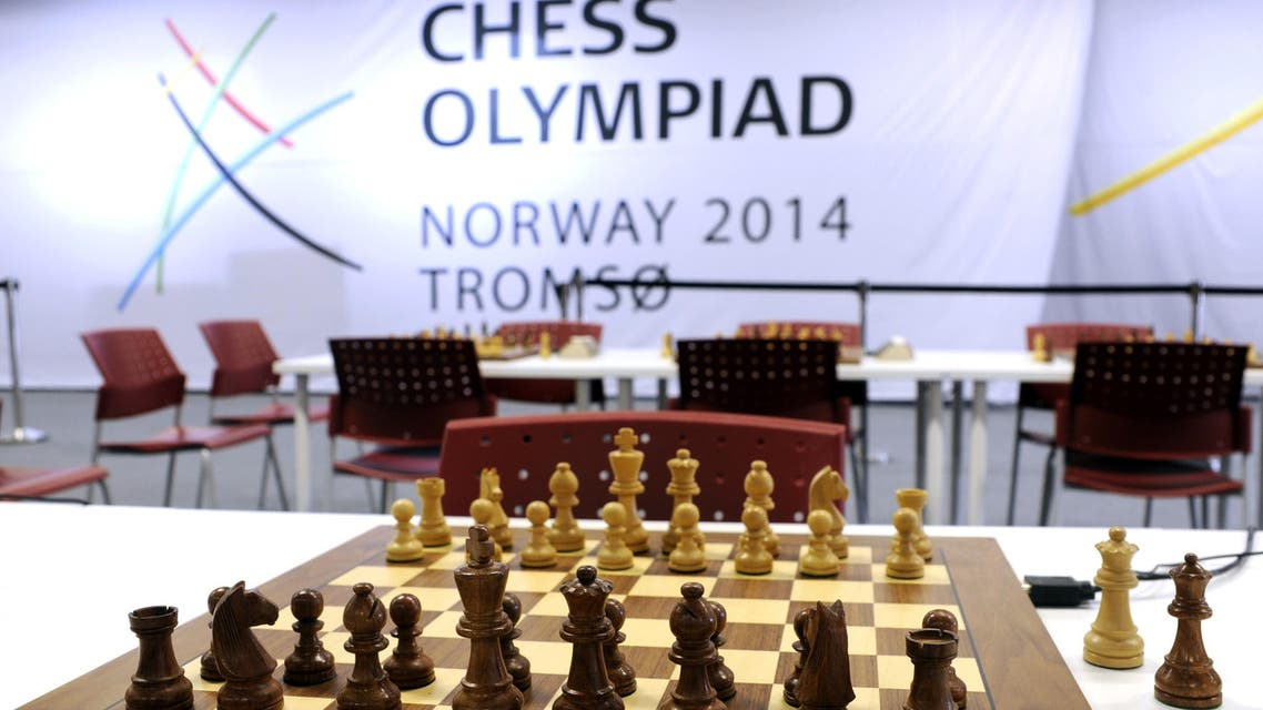 This picture taken on August, 1, 2014 shows a chess board at the Chess Olympiad Norway 2014 in Tromsoe. (Reuters)