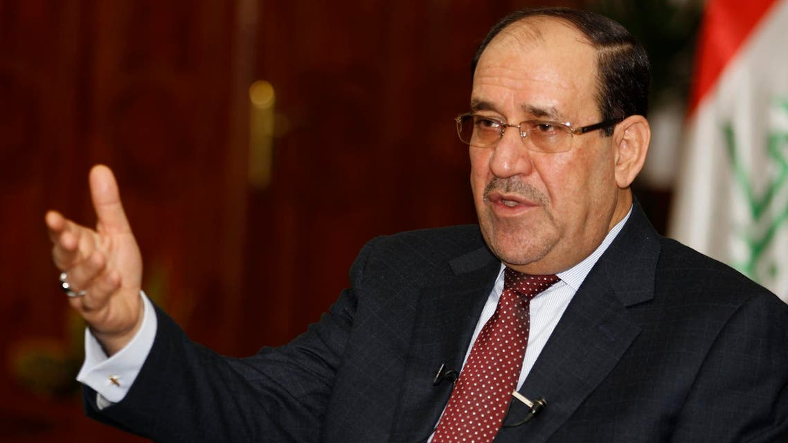 raq's Prime Minister Nuri al-Maliki speaks during an interview with Reuters in Baghdad in this January 12, 2014 file photo. (Reuters)