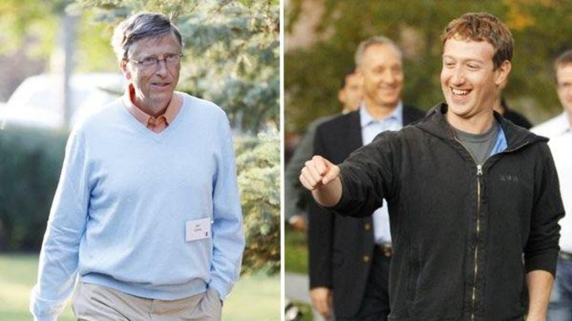 مارك زاكربرغ  و بيل غيتس
