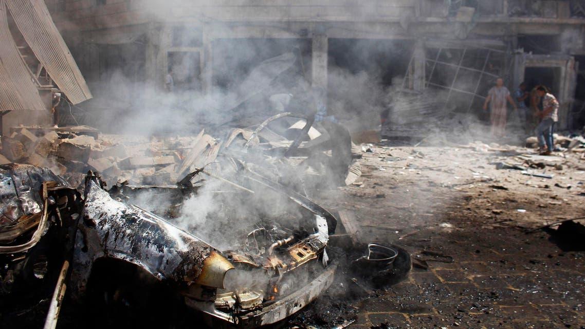 سيارة مفخخة تقتل 14 شخصاً جنوب سوريا