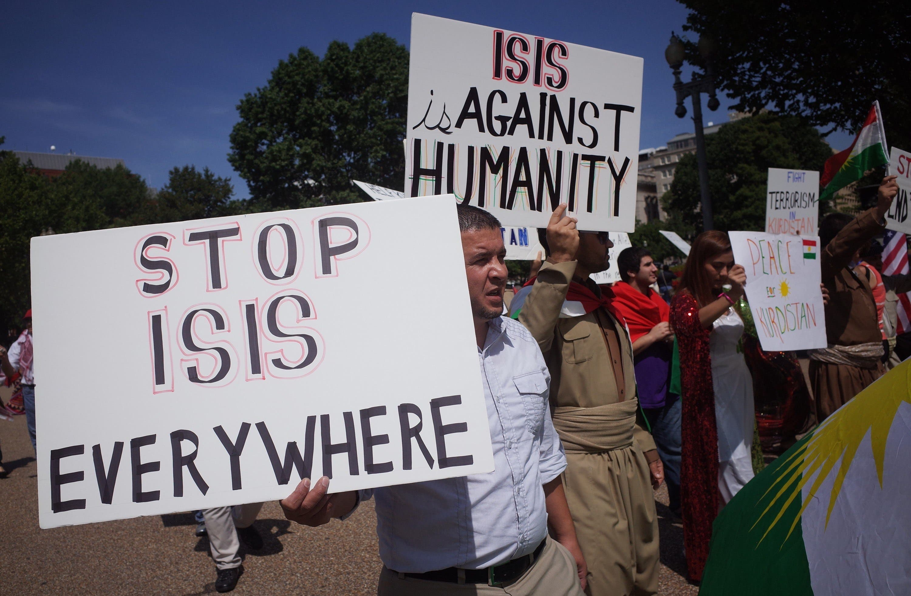 Protests against ISIS in U.S. and France