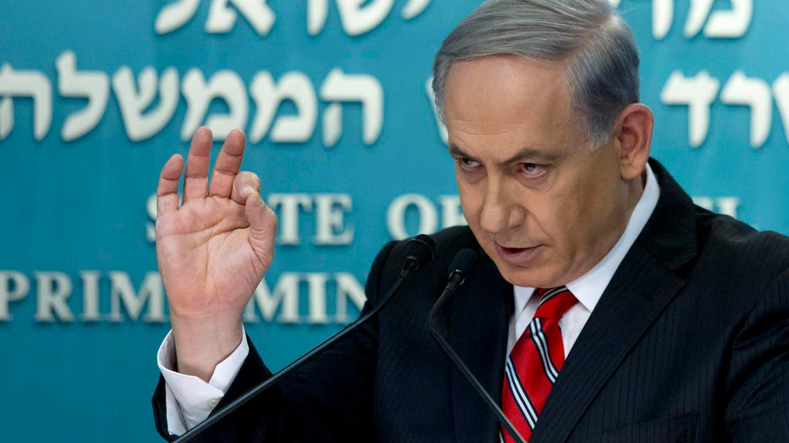Israel's Prime Minister Benjamin Netanyahu gestures during a news conference at his office in Jerusalem August 6, 2014.  Reuters