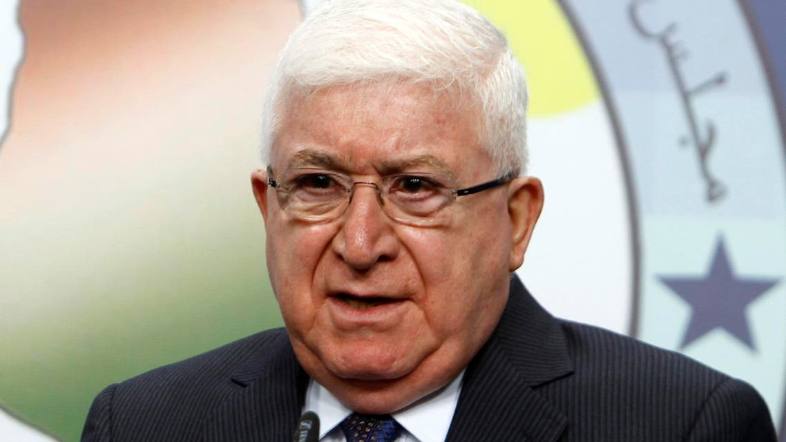 Fouad Masoum, Iraq's newly elected president, speaks during a news conference in Baghdad, July 24, 2014.