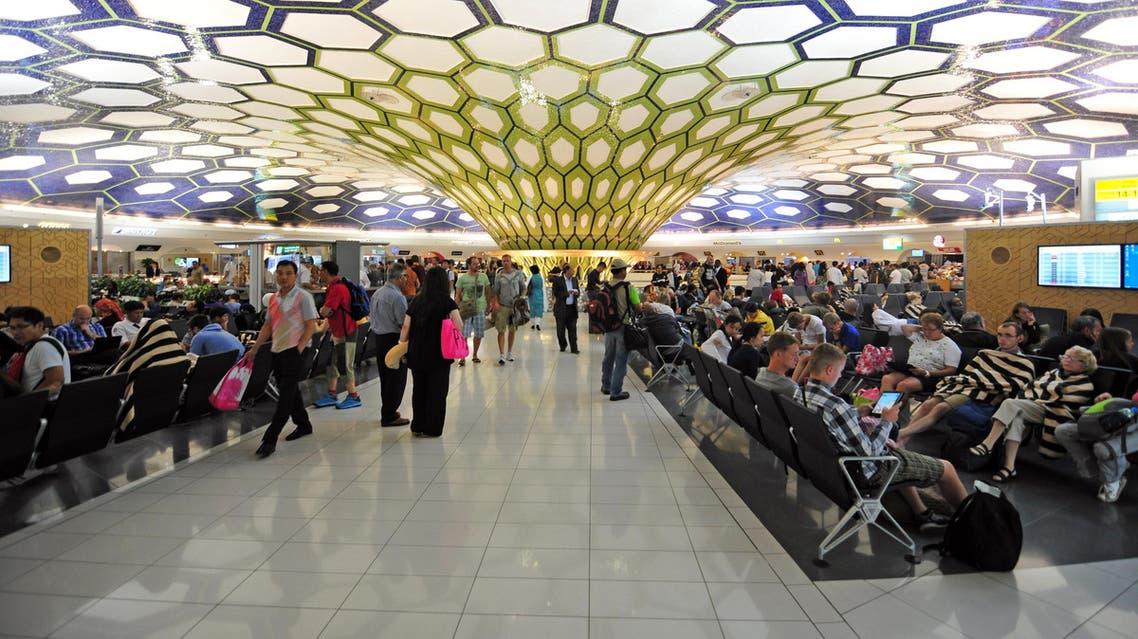 صالة الانتظار في مطار أبوظبي الدولي