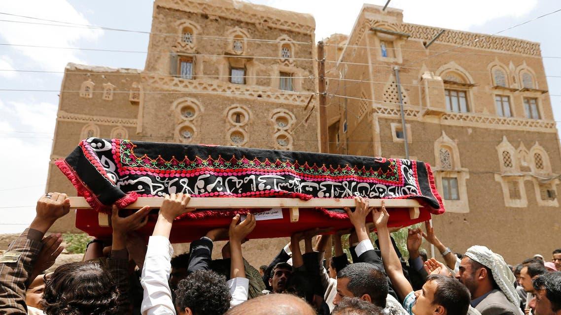 جنازة جندي يمني قتل على يد القاعدة في حضرموت اليمن