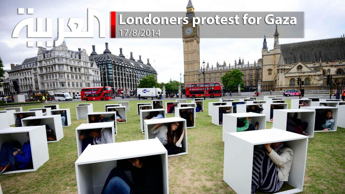 Londoners protest for Gaza