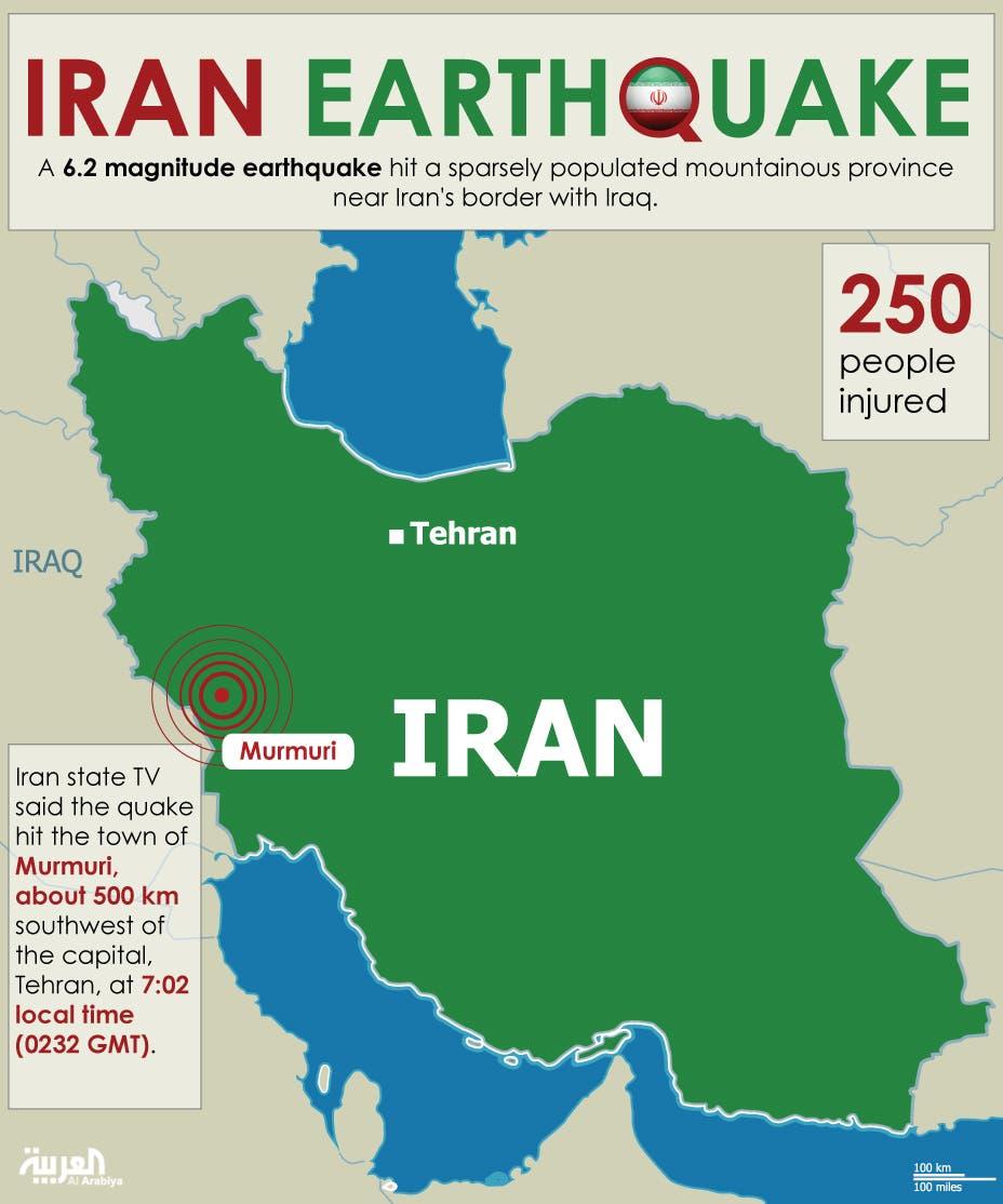 Infographic: Iran earthquake