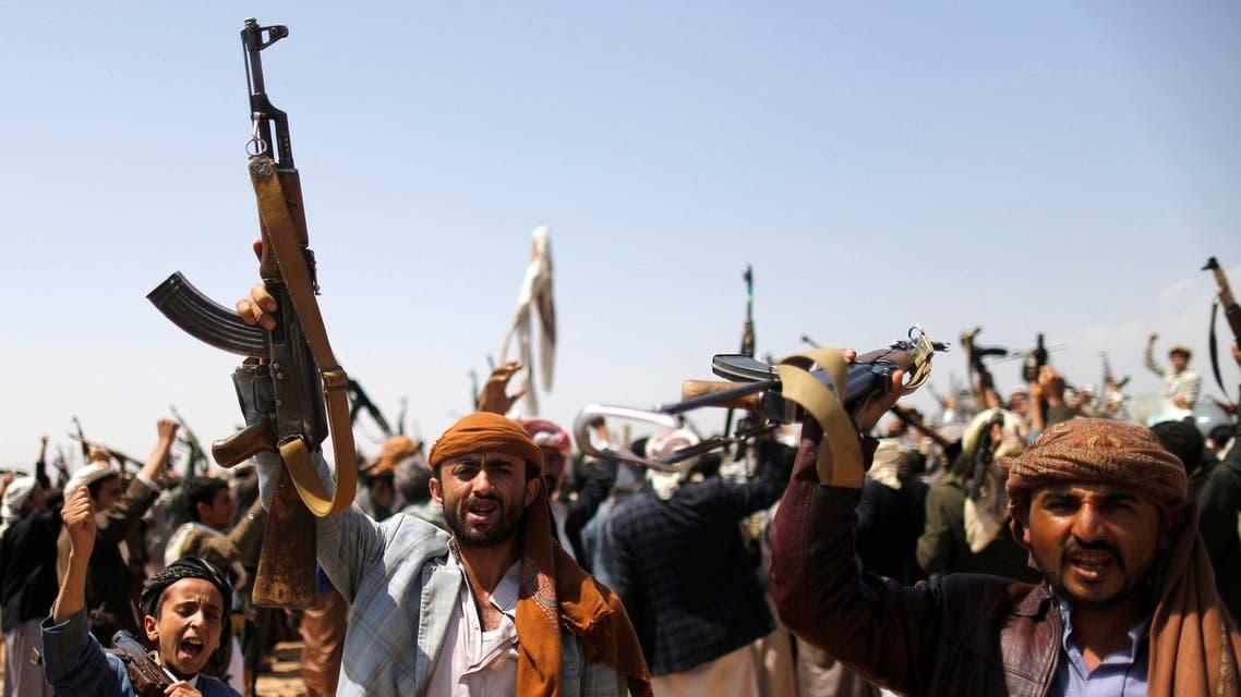 حوثيون حوثيين شمال صنعاء مسلحون مسلحين