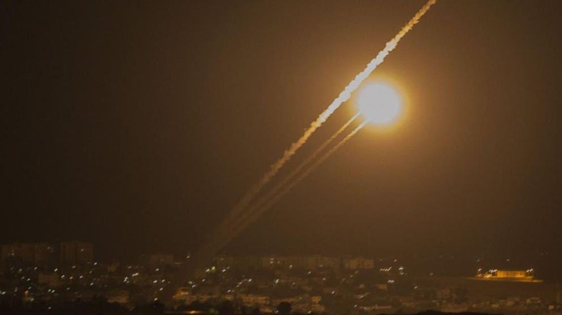 اطلاق صواريخ من غزة على اسرائيل