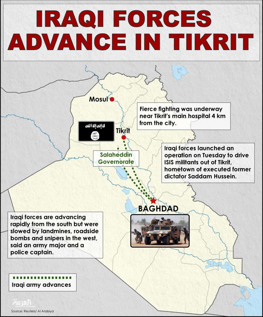 Infographic: Iraqi forces advance in Tikrit