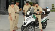 Dubai police introduce three-wheeled bike to lavish fleet