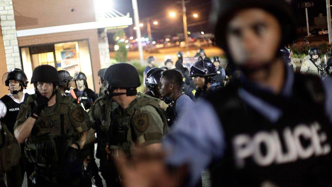 مظاهرات في أميركا في فيرغسون في ميزوري