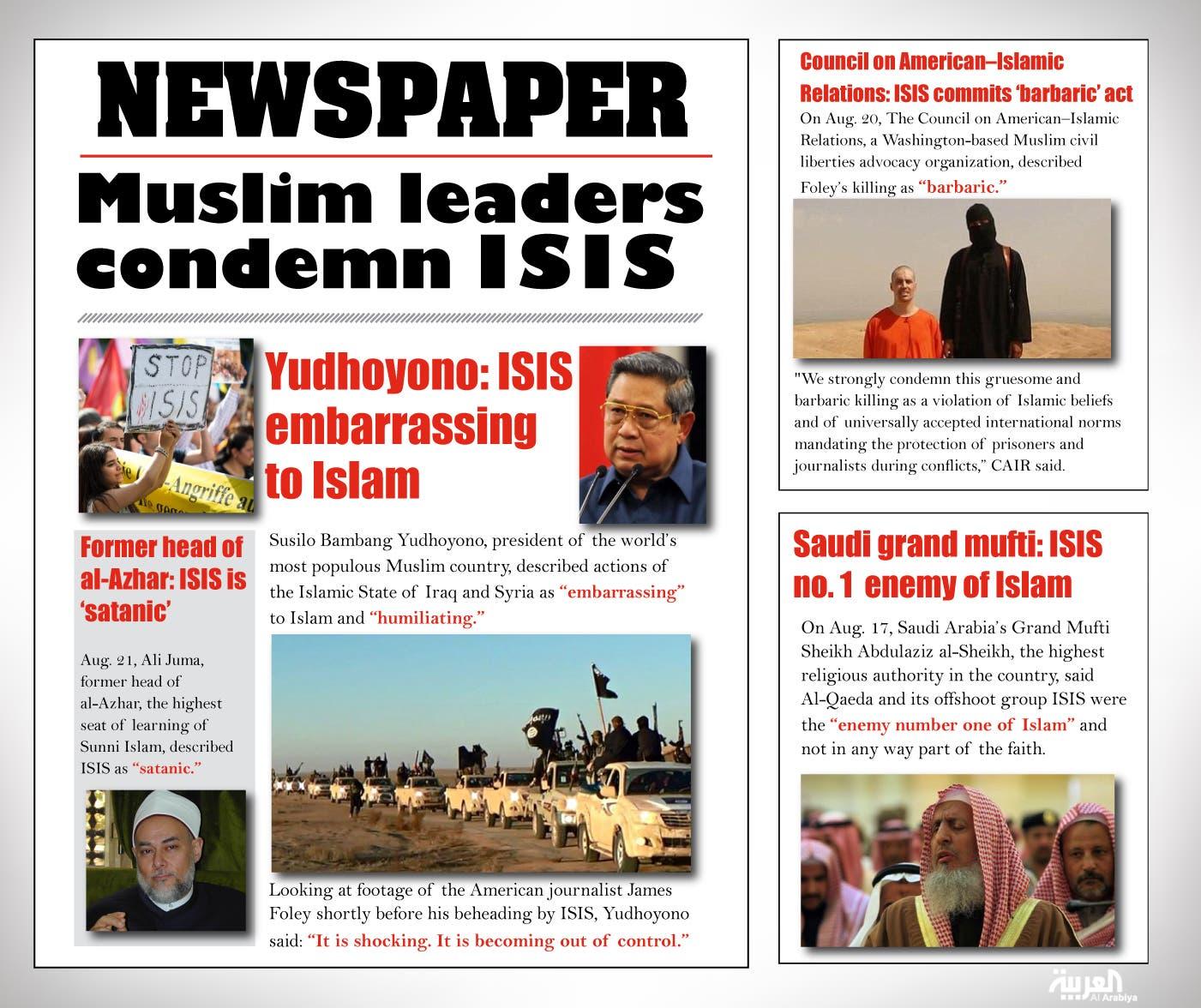 Infographic: Muslim leaders condemn ISIS