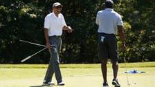 أوباما يلعب الجولف مباشرة بعد تأبينه الصحفي فولي