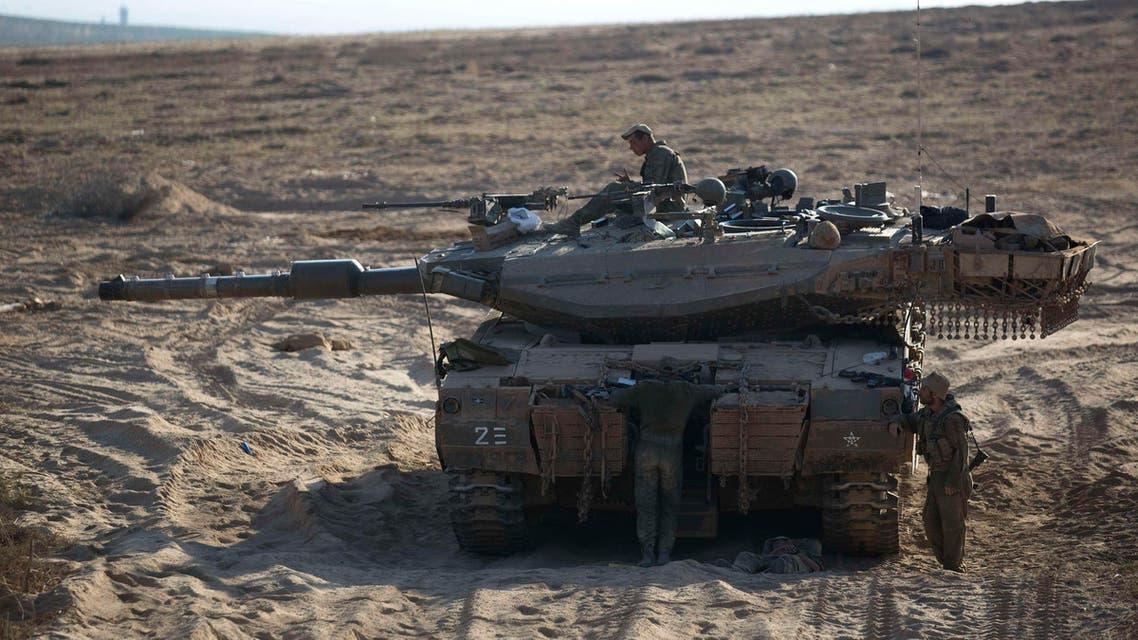دبابة آلية عسكرية إسرائيلية