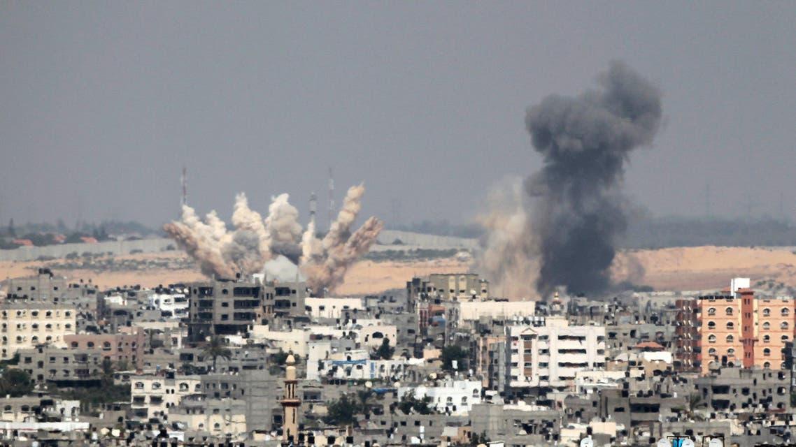 غزة تفجير قصف غسرائيلي اسرائيل الحرب على غزة