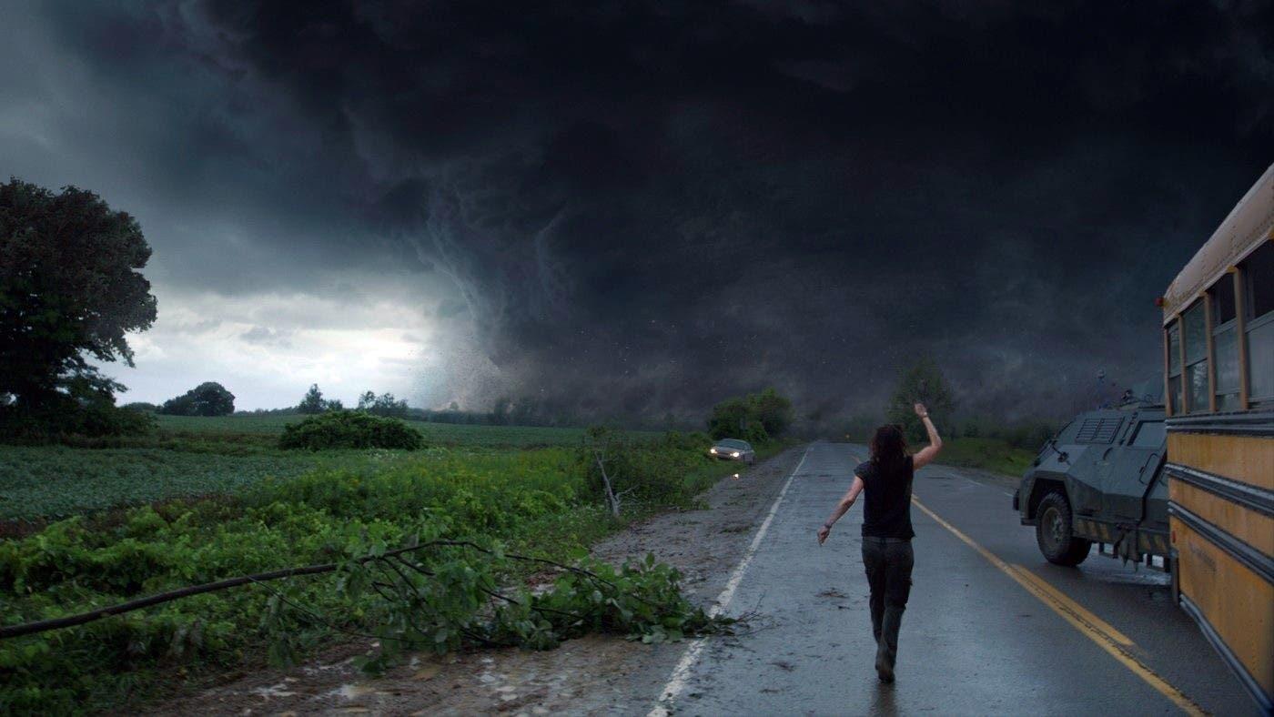 في العاصفة