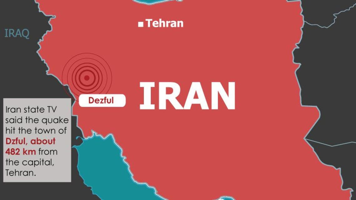 Infographic: Iran earthquake