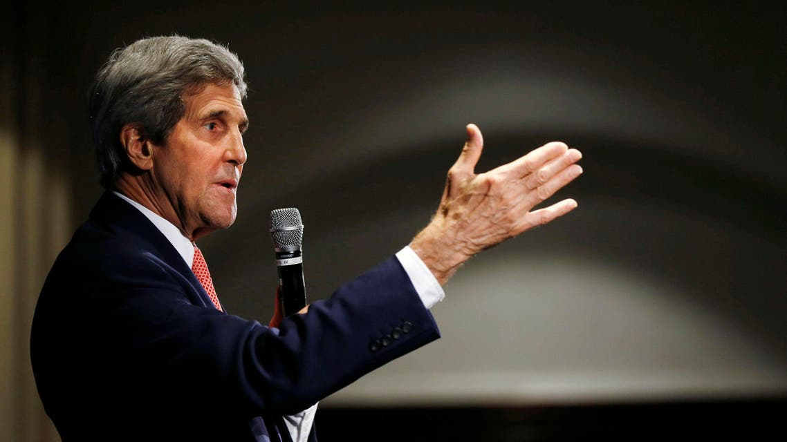 U.S. Secretary of State John Kerry speaks to U.S. embassy and consular staff based in Australia following the conclusion of the AUSMIN meeting at Admiralty House in Sydney August 12, 2014. (Reuters)