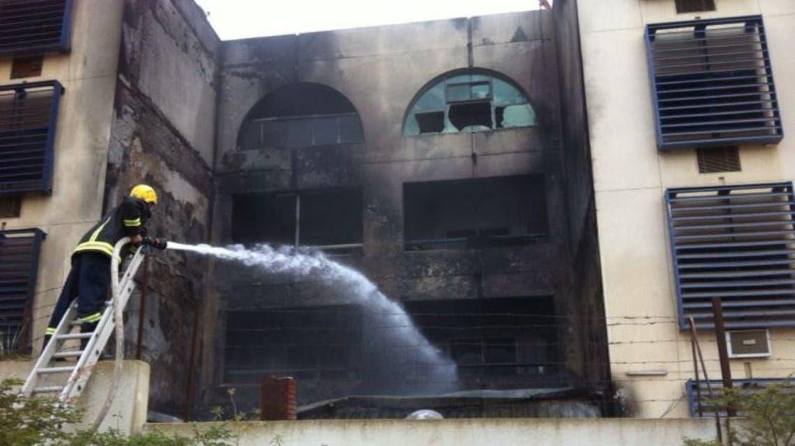 حريق سكن التدريب المهني بالباحة