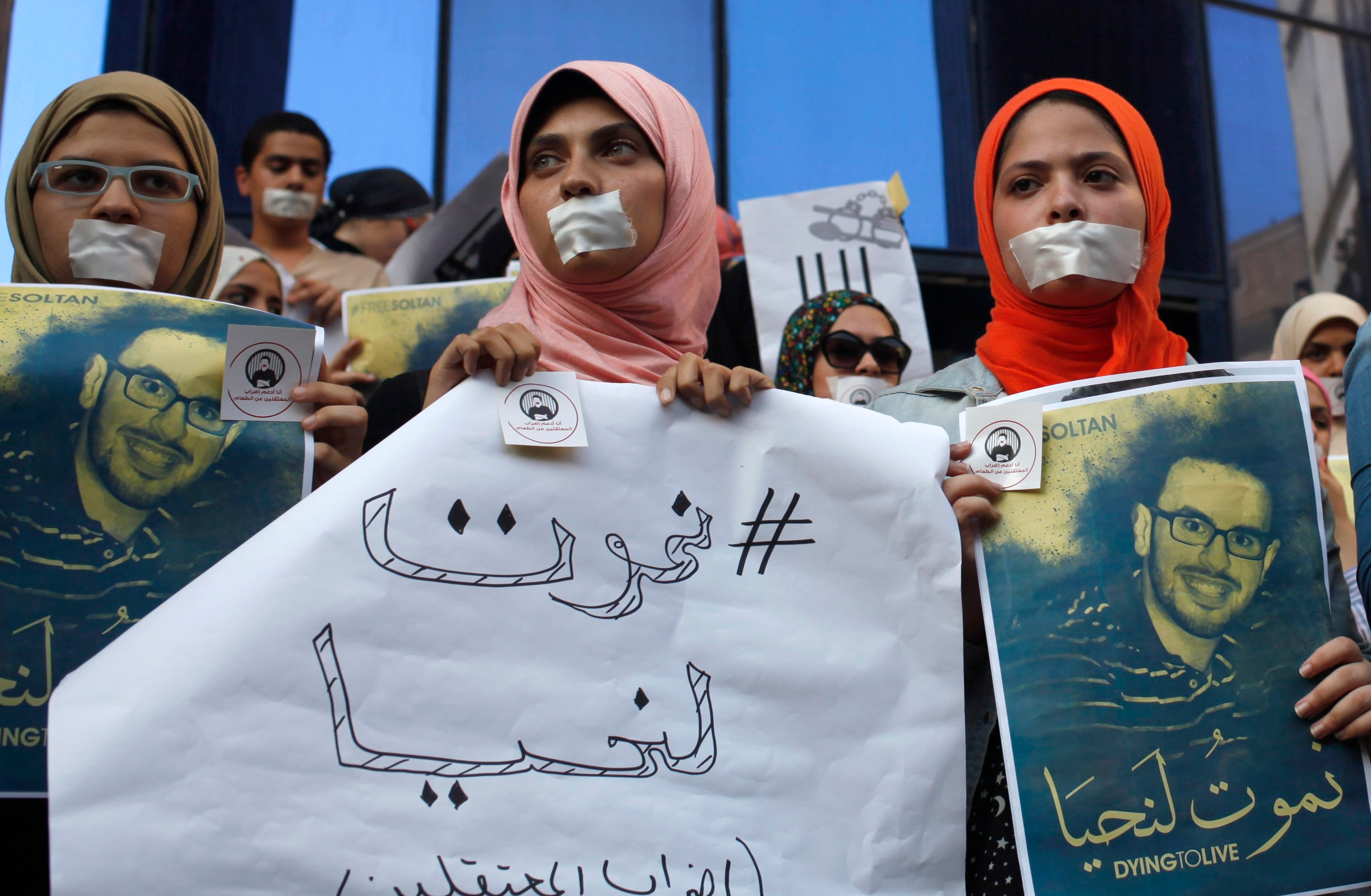Rallies held for Cairo hunger strikers