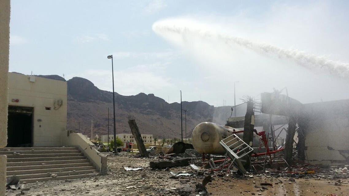 صور من انفجار في المدينة المنورة