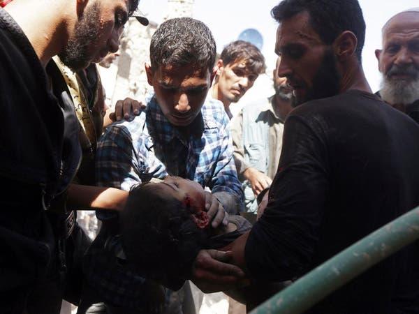 100 قتيل في سوريا بأعنف غارات للنظام على حلب و إدلب