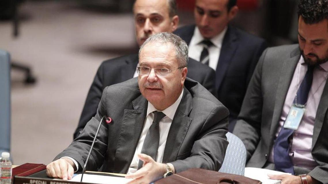 Tarek Mitri delivers his final address as the Secretary-General's Special Representative and head of the UN Support Mission in Libya (UNSMIL). UN Photo/Loey Felipe