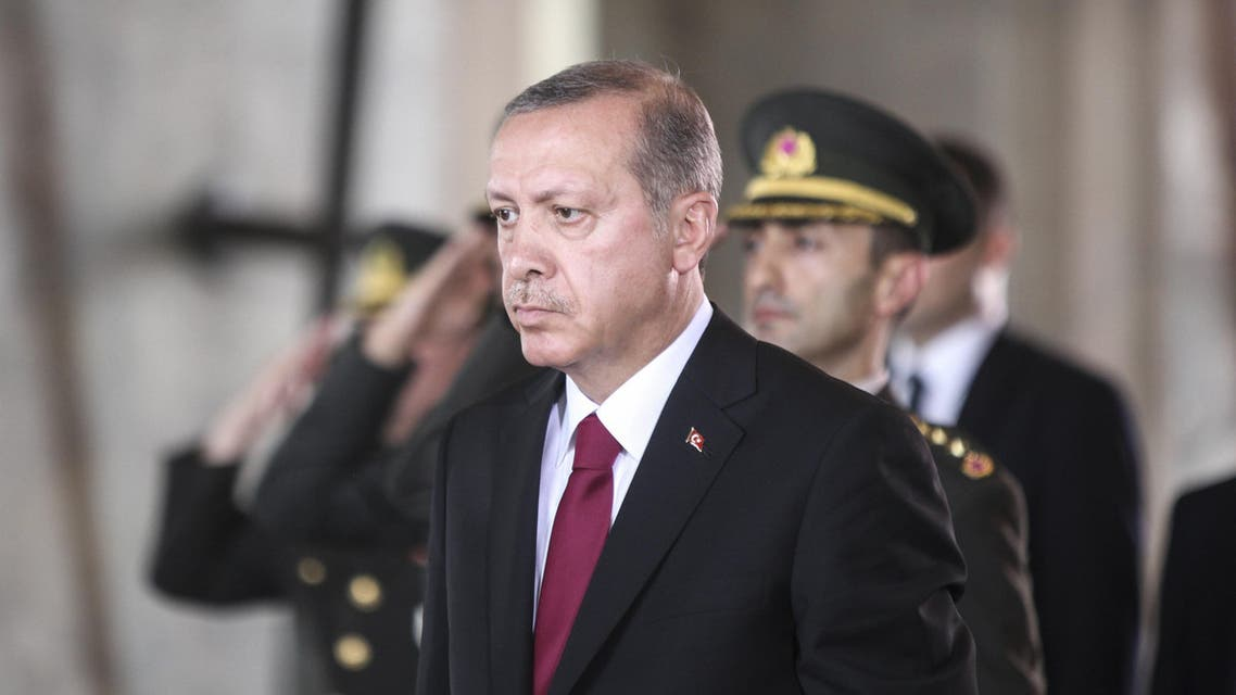 Erdogan president of Turkey ceremonyt AFP