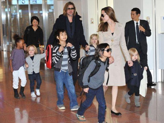 انجلینا جولی و برد پیت و شش فرزندشان